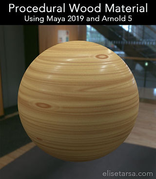 Procedural Wood Texture for Arnold and Maya