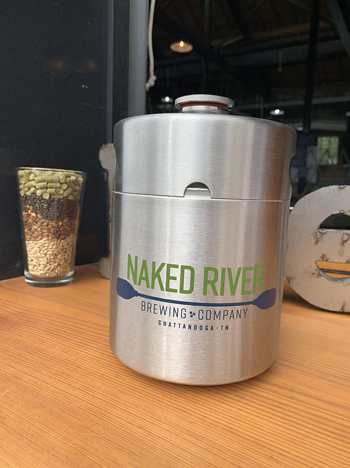 Stainless Steel Growler 64 or 128 oz