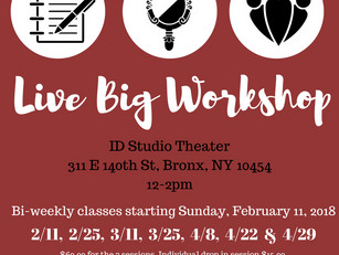 The 2nd Live Big Workshop is here!