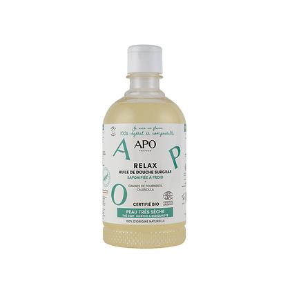 Huile de douche surgras Relax 500 ml - Peaux Très Sèches - APO