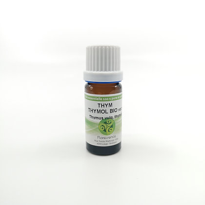 Huile essentielle Thym vulgaire à thymol Bio 10 ml - Floressence