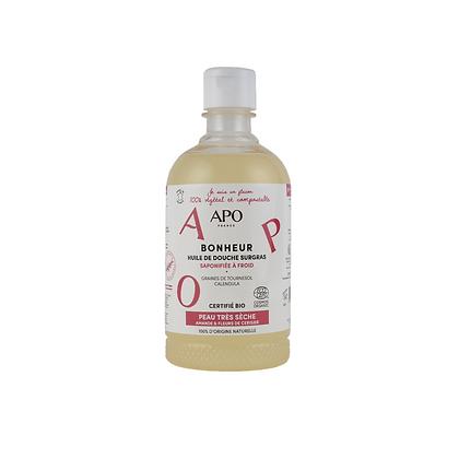 Huile de douche surgras Bonheur 500 ml - Peaux Très Sèches - APO