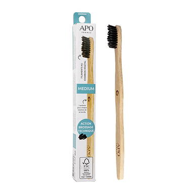 Brosse à dents en Bambou Medium APO France