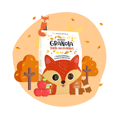 Mon Petit Granola bio - Tarte aux pommes - Nü Morning