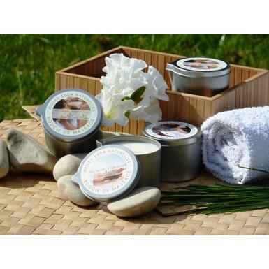 Bougie de massage en cire végétale
