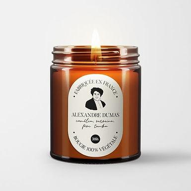 Bougie parfumée - Alexandre Dumas - Camélia Verveine Tonka