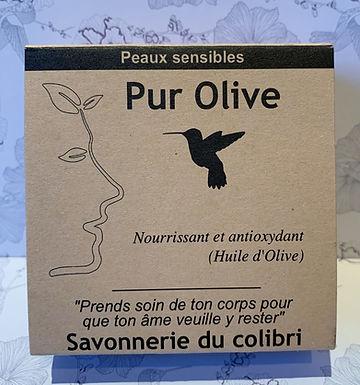 Savon bio Pur Olive - Savonnerie du Colibri