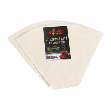 Filtres à café en coton bio lavables