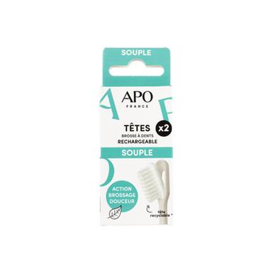 Recharge Souple pour Brosse à dents rechargeable APO France
