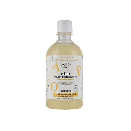 Huile de douche surgras Câlin 500 ml - Peaux Sensibles et Bébés - APO