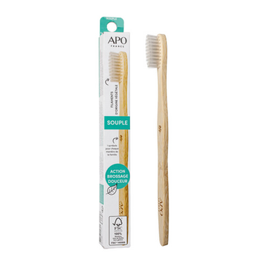 Brosse à dents en Bambou Souple APO France