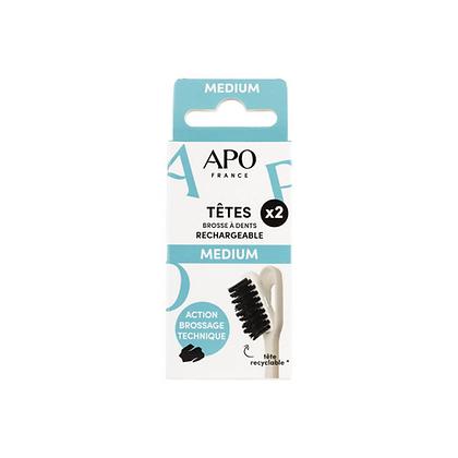 Recharge Medium pour Brosse à dents rechargeable APO France