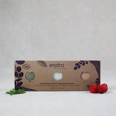 Kit routine capillaire solide bio - Endro