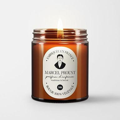 Bougie parfumée - Marcel Proust - Biscuit Madeleine
