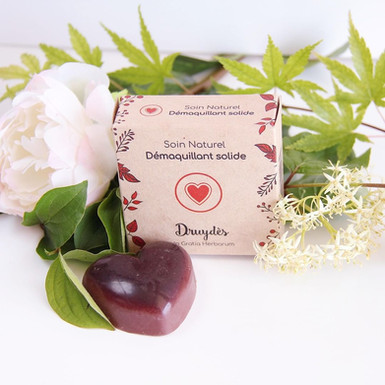 Démaquillant solide coeur bio – Druydès