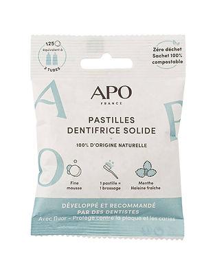 Dentifrice Solide Menthe 125 pastilles APO