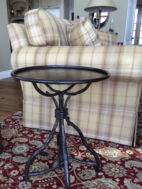 Twig Side Table w Metal Top