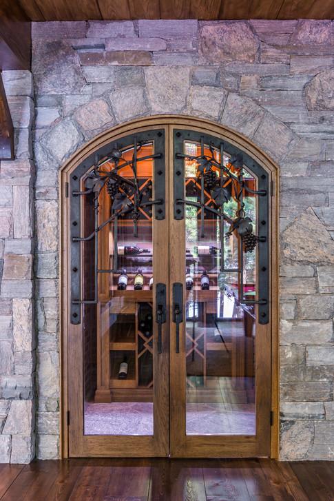 Custom Wine Cellar Door Hardware