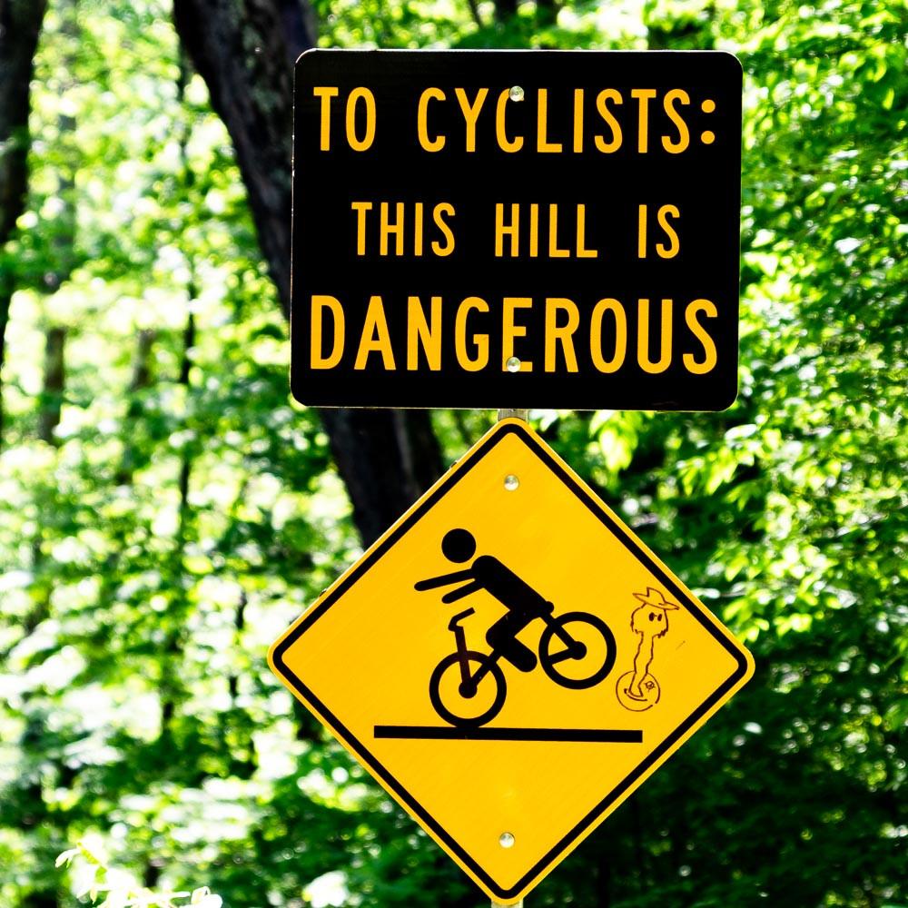 Sign on Lincoln Gap Road, Warren VT