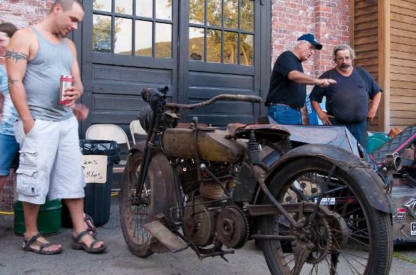 A 1917 Harley Davidson