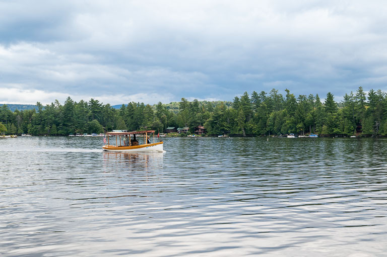 Steam powered boat on Raquette Lake