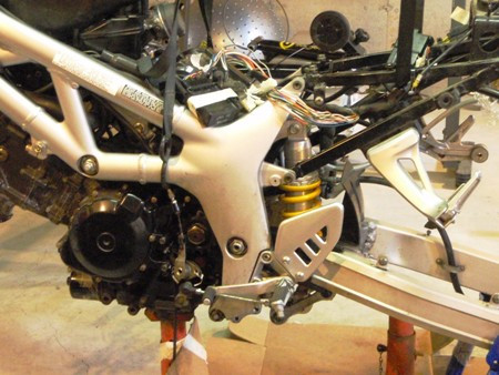 SV650 partially assembled