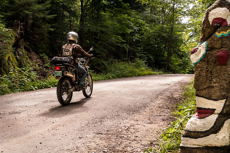 Riding the Uncas Road in the Adirondack Park