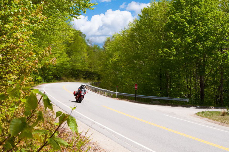 Motorcyclist on the Kanc Highway in NH