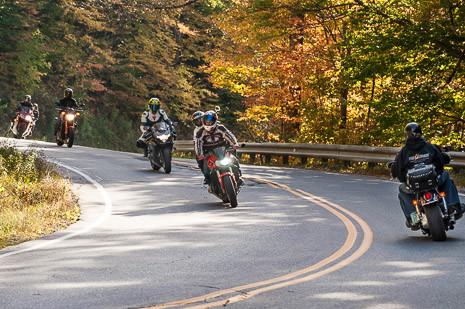 Motorcycle riders on Vermont-17, App-Gap