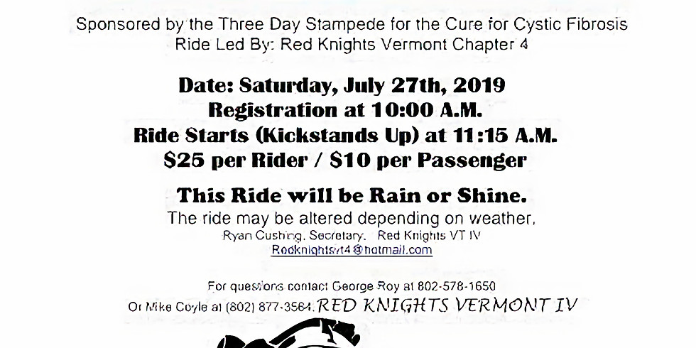 Red Knights 3 Day Stempede Ride