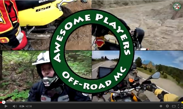 Awesome Players Off-Road Motorcycle Club: Video Inspiration