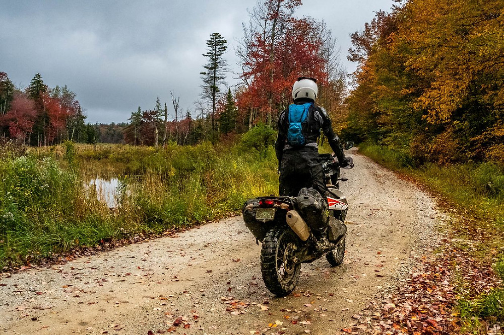 Motorcyclist on the North East Backcountry Discovery Route
