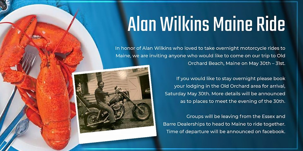 Alan Wilkins Maine Ride 2020 CANCELED
