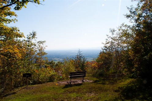 View from the Mount Philo park entrance