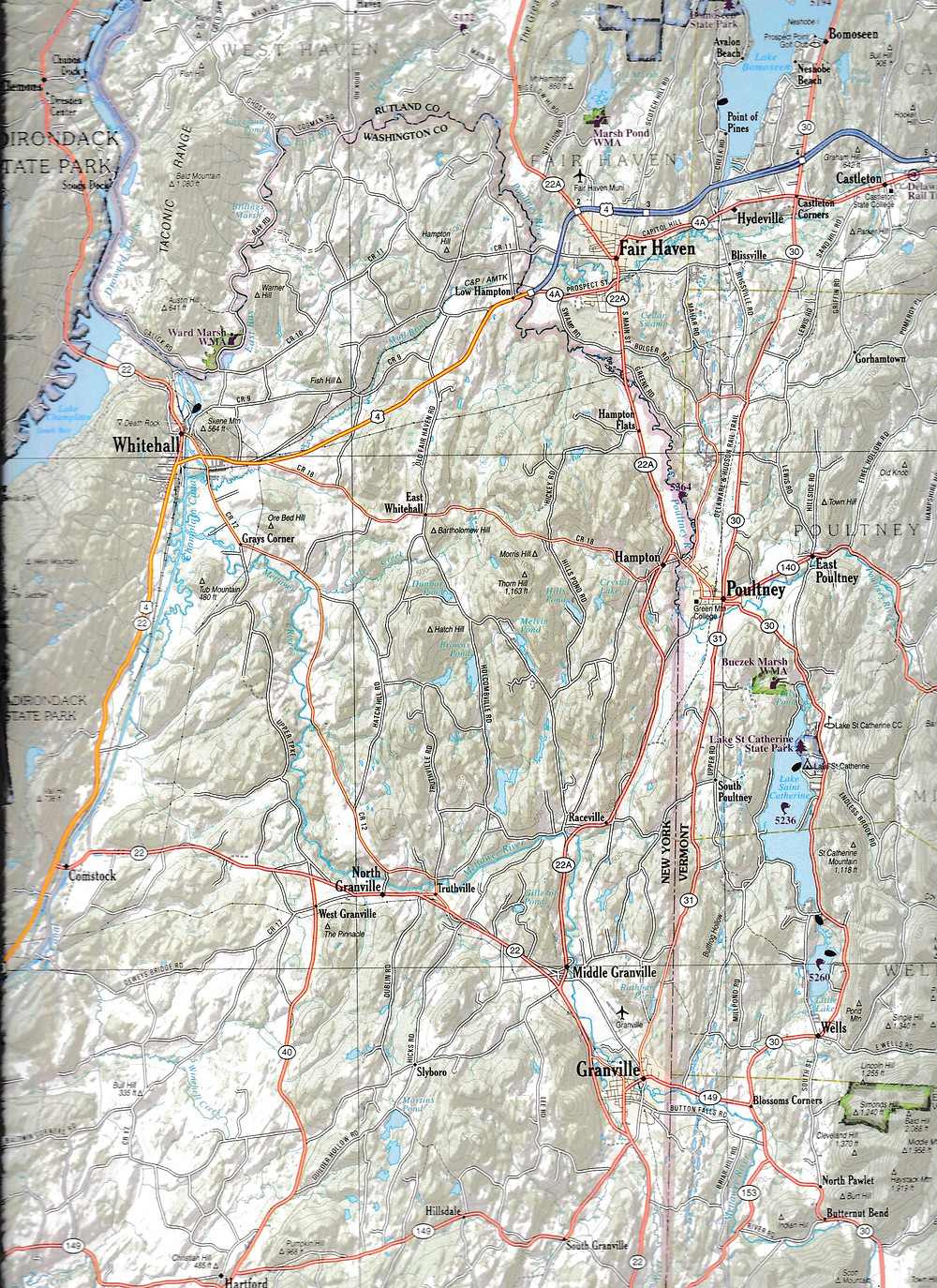Sample from the New Hampshire/Vermont Atlas & Gazetteer