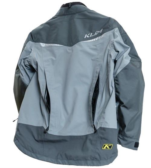 Klim Overland jacket rear view - vents open