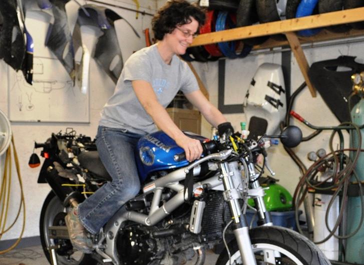 Suzuki SV650 track bike