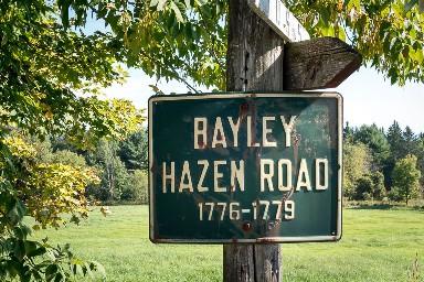 Sign marking the Bayley-Hazen Road, Vermont