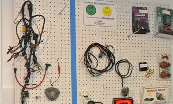 Pegboards show customers choices