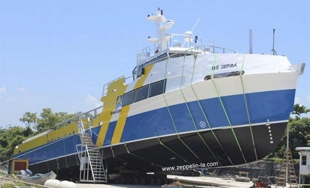 """Zeppelin Systems fabrica estrutura de alumínio para navio arpoador / Brasil Supply - """"BS Geribá"""""""