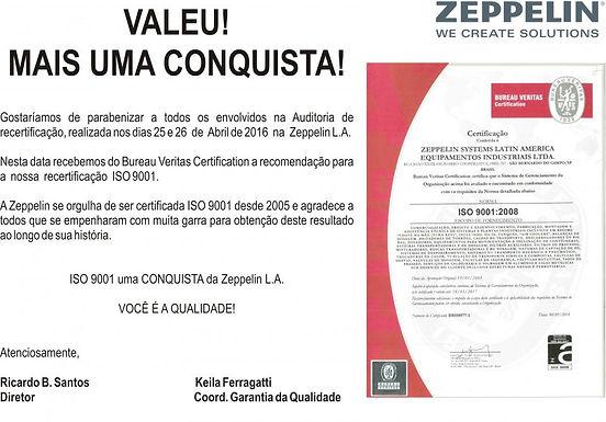 Mais uma conquista da qualidade Zeppelin LA