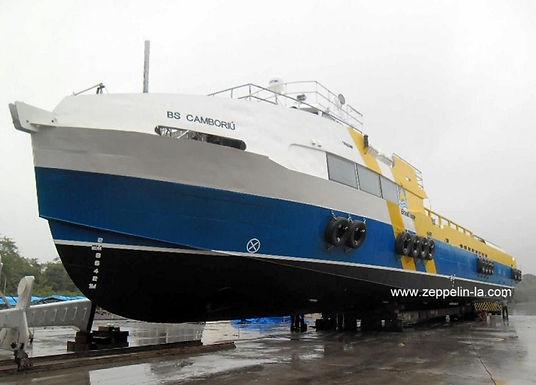 Zeppelin Systems entrega o terceiro navio de alumínio BS Camboriú para arpoador / Brasil Supply