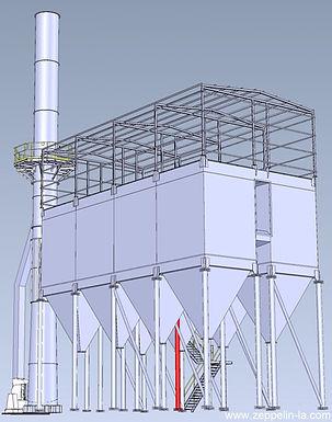 Zeppelin Systems instalou sistema de isolamento de pó - Filtro de Mangas com limpeza off-line, transporte pneumático e silos de alumínio