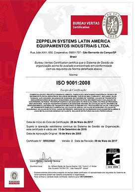 Zeppelin Systems Latin America é recertificada ISO 9001, atestando mais uma vez a confiabilidade de processor de gestão