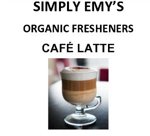 Simply Emy Organic Freshener-Cafe Latte, 3pk