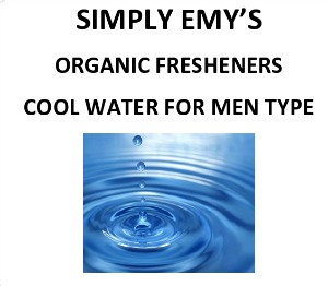Simply Emy's Organic Fresheners, Cool Water 3pk