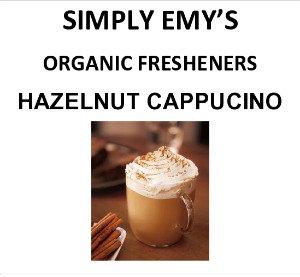 Simply Emy Organic Freshener-Hazelnut Cappu, 3pk