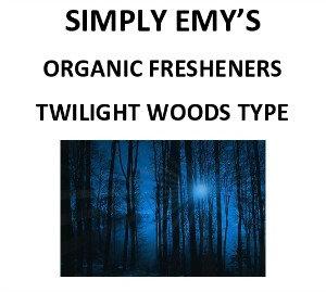 Simply Emy's Organic Freshener-Twilight Woods, 3pk