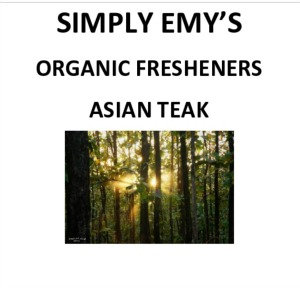 Simply Emy Organic Freshener - Asian Teak, 3pk