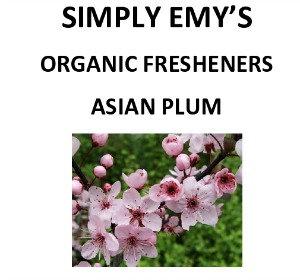 Simply Emy's Organic Fresehner - Asian Plum, 3pk